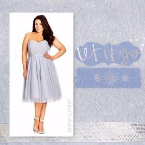 Powder Blue Sequin Elsa Fit &Flare 22 /XL